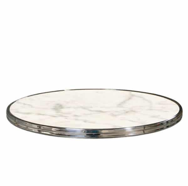 Terrastafelblad 0070 White Marmor Zilver