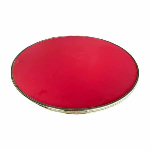 Terrastafelblad 0403 Red met messing rand